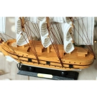 The Mediterranean Sea style manual wooden sailing ship model housewarming gift plain sailing