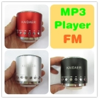 50piece Portable MP3 Player Speaker Wholesale Stereo Audio Digital Computer Audio Music Player Multi Function FM Radio Light USB TF Card