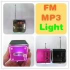 10piece New MP3 Player Speaker Wholesale Mini Computer Speaker FM Radio LED Lights USB TF Card Music Box Laptop Wirless Multimedia 3.5mm