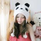 Free Shipping Cartoon Animal Cosplay White Panda Costume Plush Soft Warm Unisex Cap Hat #1