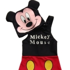 Hot Sale  Mickey Mouse Cute Cartoon Swimwear +Bathing Cap For Boys Free Shipping!