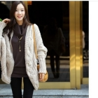 New arrival women fashion autumn winter thick bat Sleeve long Cardigan Sweater/Free Shipping/promotion Hot sale