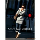fashion Korean style woman fashion thicking warm fur collar Surplice tight swing coat jacket/free shipping/High quality