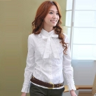 Hight quality 2012 fashion new style ,women Beautiful  puff super long sleeve shirts/free shippingretail/promotion