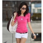 Women's Good Elastic Puffy Short Sleeve T-Shirts Ladies Top Wear Lady Clothes Best Selling Wholesale+Free Shipping