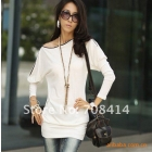 2012 fashion OL style women zip sexy spring off the shoulder Package hip long sleeve dress/free shipping/retail/high quality