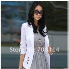 fashion woman must have All-match Korean style OL a button Slim turn-down collar coat jacket Free Shipping/promotion