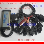 Free shipping!!!!!! autocom for  autocom 2013Top Rated +2012.2 + M6636B OKI Chip Autocom CDP  For Car  with 8 Pieces Cables