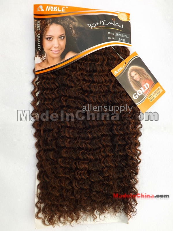 Noble Afro Curl Synthetic Hair Extension Hair Free Shipping