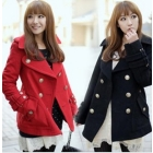 free shipping Chili double breasted qiu dong han new long sleeve female fur coat