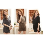 Star temperament Lady party dress Bats cuffs Fashion drape dress