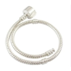 100pcs 16cm-23cm  plated bracelet with plain clasp  fit European bead free shipping