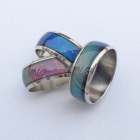 Best quality - mixed size 100pcs Color Changable Mood Ring free shipping