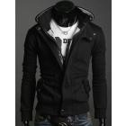 New Freeshipping Stylish Slim Fit Men Zip Outerwear overcoat Jackets Hoodies Coat Dark grey M L XL XXL XXXL