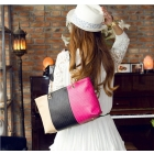 2012 Brand New Spell color weaving style PU single shoulder bag free shipping 1pcs