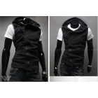 New Men's fashion sleeveless vest hoody free shipping