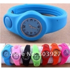 12 pcs/lot/ free shipping Promotions Newest fashion silicone watch Jelly children slap watch Glossy Clap watch ---1