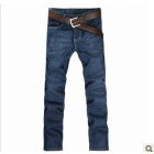 free shipping  Summer pure cotton water straight bottom men's jeans