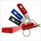 LED electronic clock flashlight with key chain clock projection table