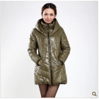 New autumn outfit han2 ban3 dress show thin white fashion large size dress cotton-padded clothes grow a trench coat