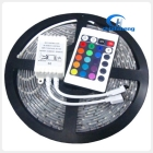 Free shipping 5m/reel 5050 SMD LED Flexible Strips light Waterproof 30pcs/meter with 24color IR remote controller