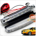 Free shipping Waterproof 8 LED Daytime Running Light Kit 12V 120LM white