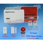 Free Shipping + Wireless Home Security Intelligent Tri-band GSM Alarm Systems Standard Kit