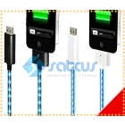 Visible Sync  Charge Cable EL Light mobile phone USB Charger for phone