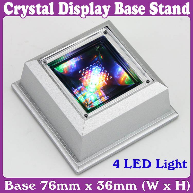 Unique Square Crystal Display Base Stand 4 Led  U2013 Wholesale