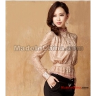 Free Shipping Wholesale wild Fashion 2012 Autumn New wild  female long-sleeved autumn female models party shirt
