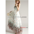 free shipping new women's Bohemian broken flower skirt beach skirt snow spins dress--