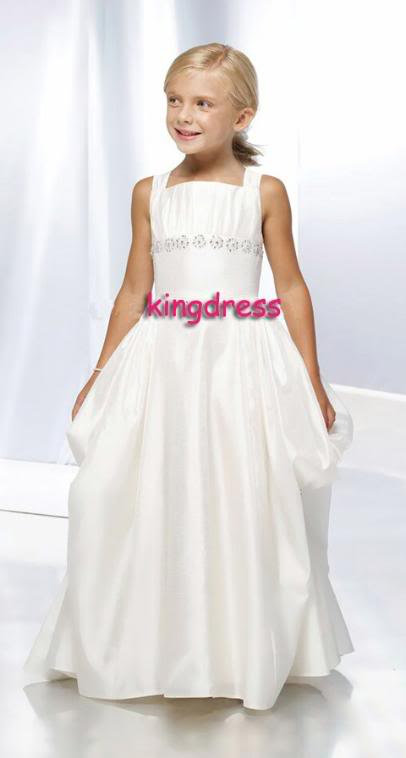 Fashion 2013 Cute Sell White Flower Girls Dresses Dancing Party