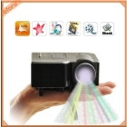 "Portable Multimedia LED LCD Mini Projector Desk Type 45"" Display AV-in Video SD"