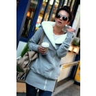 2012free shipping NEW Women's Outwear Oblique Zipper Cold-proof Cotton hoodie