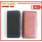 (In STock)Free Shipping New flip protective Pocket left rigt open mobile phone wallet brown color leather case For Iaccessories