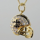 NEW! FLEUR DE LIS NEW ORLEANS SAINTS FOOTBALL HELMET NECKLACE