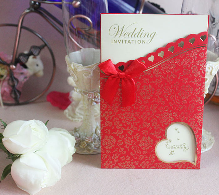 90 Chinese Red Wedding Invitation Cardwedding Card With Hollow Heart Design 200pcs Free Shipping From Madeinchina Wholesaler On ShopMadeInChina