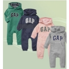 12pcs/lot Free shipping Wholesale new  hooded long-sleeved leotard, side pull  Romper cotton 4 color