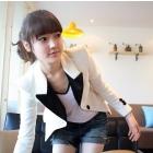 Free Shipping New Fashion Sexy Women OL Wear wild fashion lapel white jacket