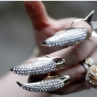 Free shipping! Punk jewelry Personality Fashion diamond eagle claw nail shaped rings