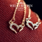 Free Shipping Fashion jewelry Fashion jewelry diamond Wishing love necklace Mischa Barton favorite subclavian chain [D332]