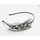 Free shipping - gentlewoman hairpin flashing crystal hairband Black Scottish  hairwear
