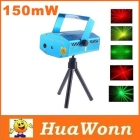 High quality 150MW Mini Red & Green Moving Party Laser Stage Light laser DJ party light Twinkle 110-240V 50-60Hz With Tripod Free Shipping