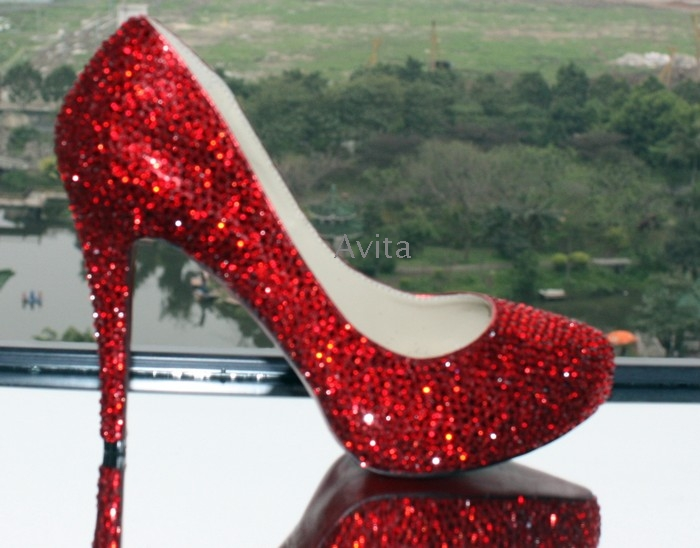 Red Heels With Diamonds
