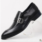Popular men's shoes and chic business dress shoes leather buckle British men's shoes for shoes toward low