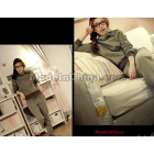 2012 new autumn and winter Korean Fashion leisure Fleece oblique zipper sweater, pants, vest three-piece thicker sweater suit free shipping
