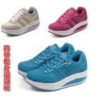free shipping 2012 New Korean version of the authentic the slimming shakes his shoes, platform shoes thick crust shoes breathable slimming shoes sports swing shoes