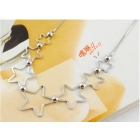 Free Shipping! high quality 100pcs/lot 7 tiny 5-stars design pendant Necklace, jewelry pendant necklace, Hot Sale