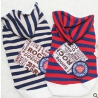 2012 chun xia Jimmy doll stripe hooded sweater pet clothes teddy dog clothes  clothes