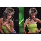 Ash golden Medium length hair wig. KANEKALON  HEAT - RESISTANT FIBER. Quality Assurance free shipping